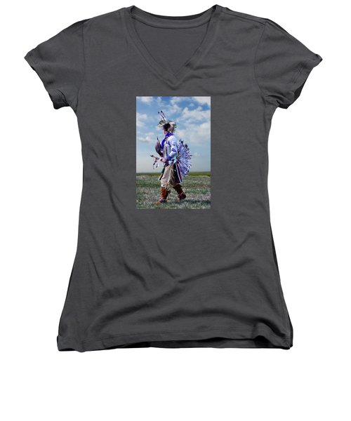Celebrate The Dance Women's V-Neck T-Shirt (Junior Cut) by Karen McKenzie McAdoo
