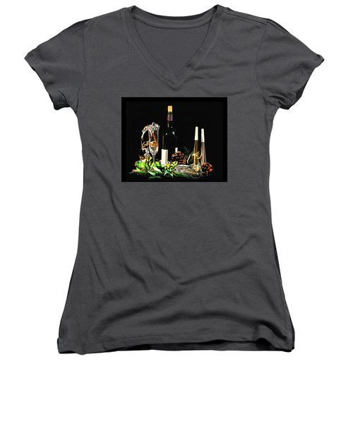 Women's V-Neck T-Shirt (Junior Cut) featuring the photograph Celebration by Diana Angstadt