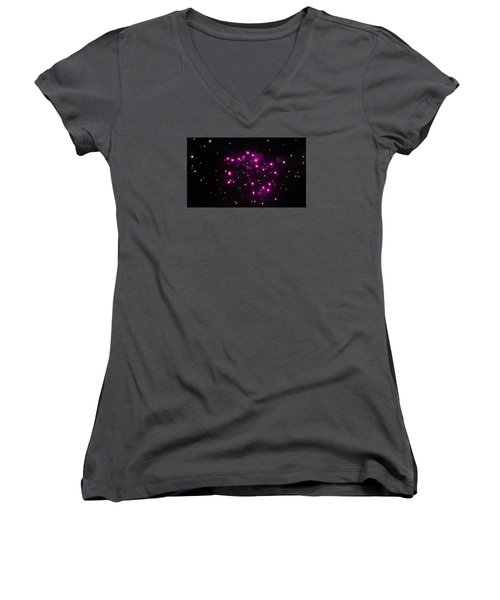 Celestial Firework Women's V-Neck T-Shirt (Junior Cut)