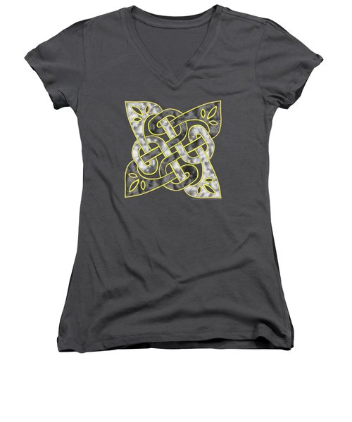 Celtic Dark Sigil Women's V-Neck T-Shirt (Junior Cut) by Kristen Fox