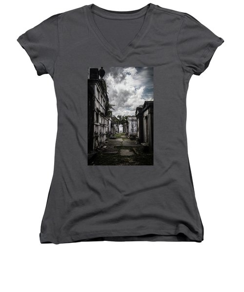 Cemetery Row Women's V-Neck