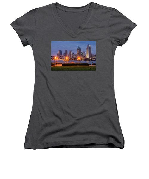 Women's V-Neck (Athletic Fit) featuring the photograph Centennial Sight by Dan McGeorge