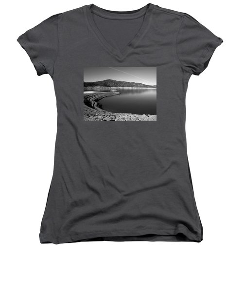Women's V-Neck T-Shirt (Junior Cut) featuring the photograph Centimudi In Black And White by Joyce Dickens