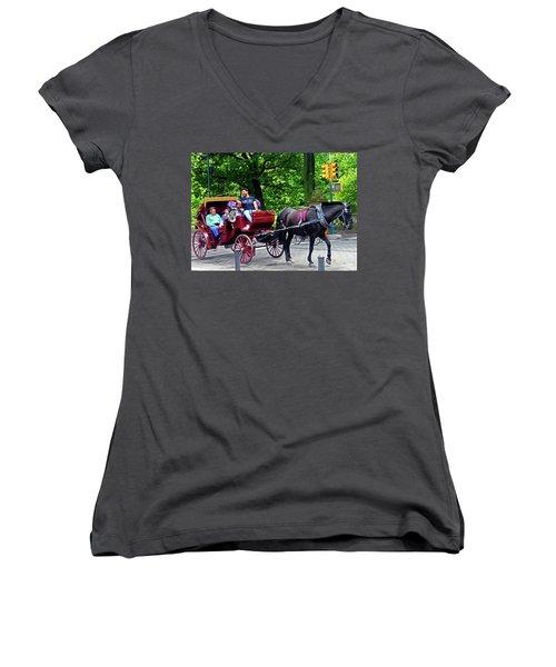 Central Park 5 Women's V-Neck (Athletic Fit)