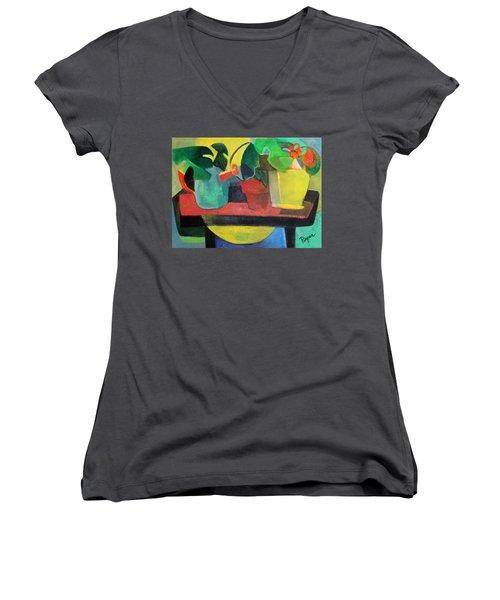 Cezanne Potting Stand Women's V-Neck T-Shirt