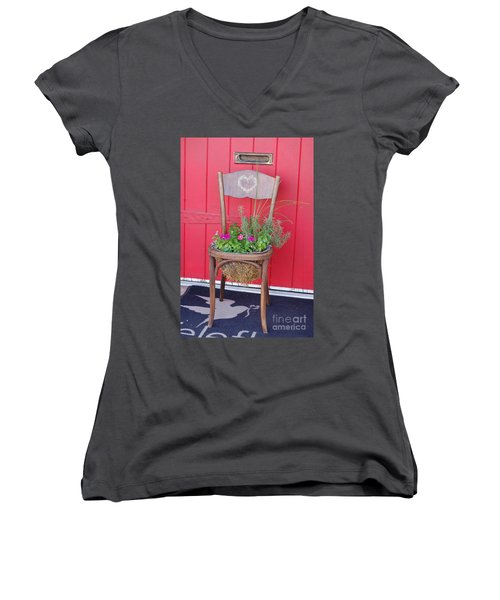 Chair Planter Women's V-Neck (Athletic Fit)