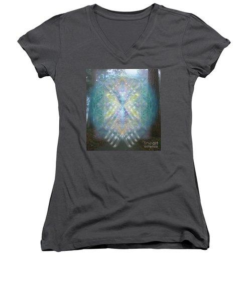 Chalice-tree Spirit In The Forest V1 Women's V-Neck T-Shirt