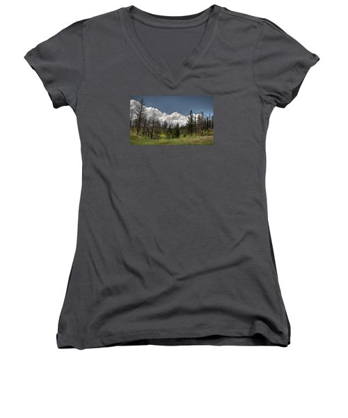Chance Of Clouds Women's V-Neck T-Shirt (Junior Cut)