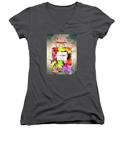 Chanel No 5 Women's V-Neck T-Shirt (Junior Cut)