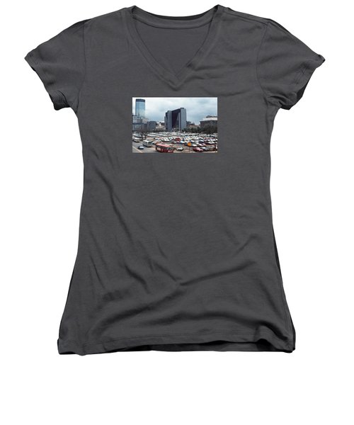 Changing Skyline Women's V-Neck (Athletic Fit)