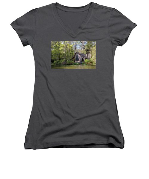 Chapel In The Woods Women's V-Neck (Athletic Fit)