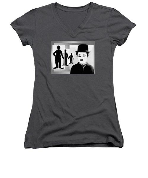 Chaplin, Charlie Chaplin Women's V-Neck