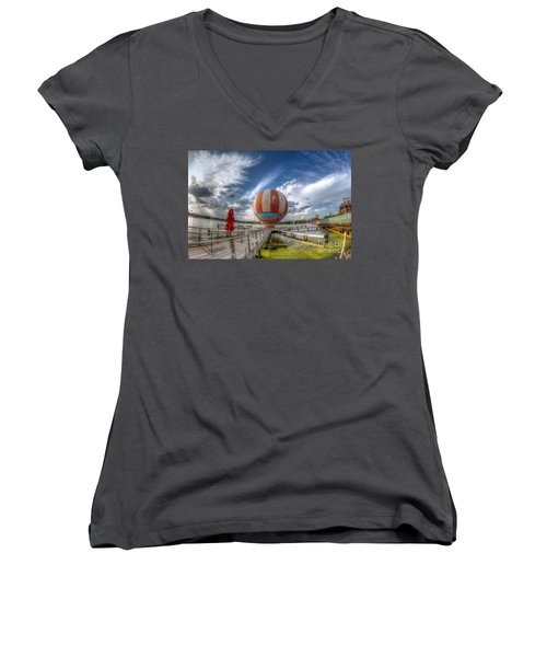 Characters In Flight Women's V-Neck T-Shirt