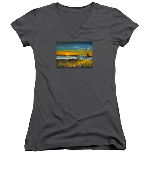 Charleston Low Country Women's V-Neck (Athletic Fit)
