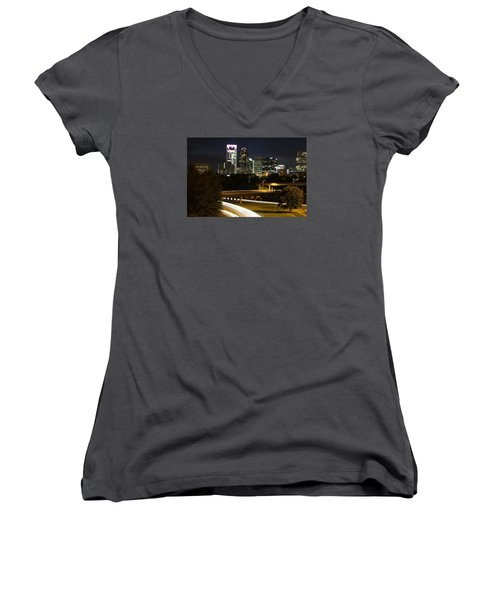 Charlotte's Skyline Women's V-Neck T-Shirt