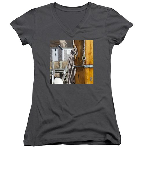 Chatham Old Salt Women's V-Neck T-Shirt (Junior Cut) by Charles Harden