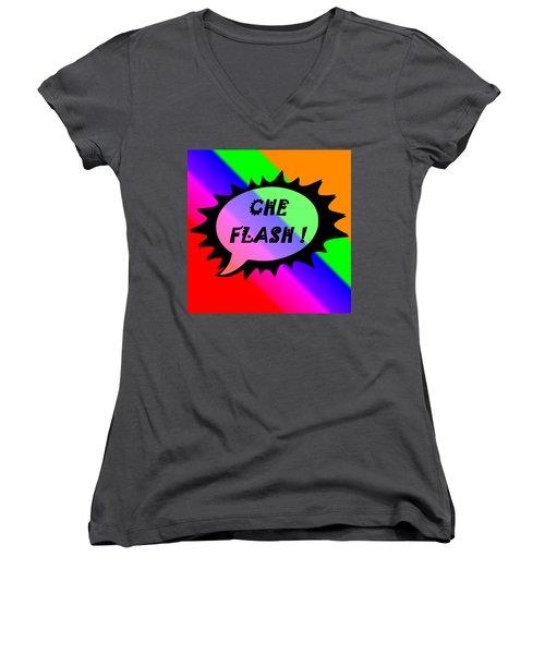 Che Flash Women's V-Neck