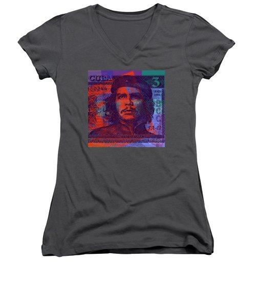 Che Guevara 3 Peso Cuban Bank Note - #3 Women's V-Neck