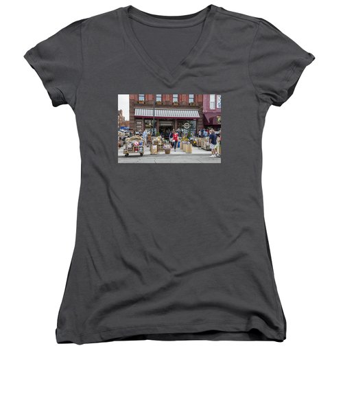 Cheese Shop In Detroit  Women's V-Neck