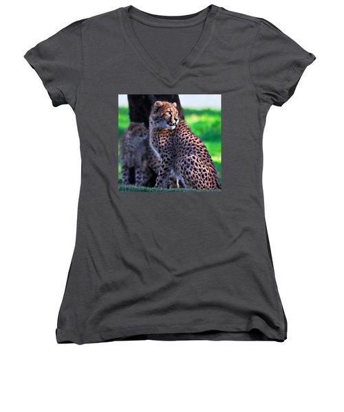 Cheetah Cub Women's V-Neck