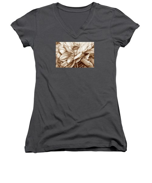 Chelsea's Bouquet 2 - Neutral Women's V-Neck