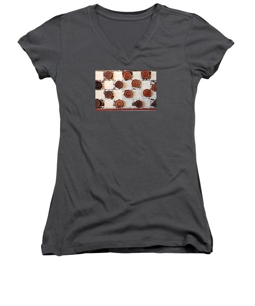 Chequer Board Women's V-Neck (Athletic Fit)