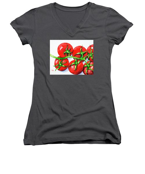 Cherry Tomatoes  Women's V-Neck (Athletic Fit)