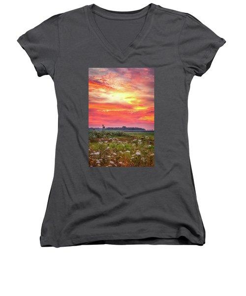 Chesapeake Sunrise I Women's V-Neck T-Shirt