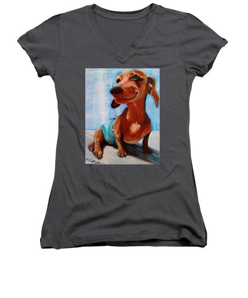 Chestnut Women's V-Neck T-Shirt