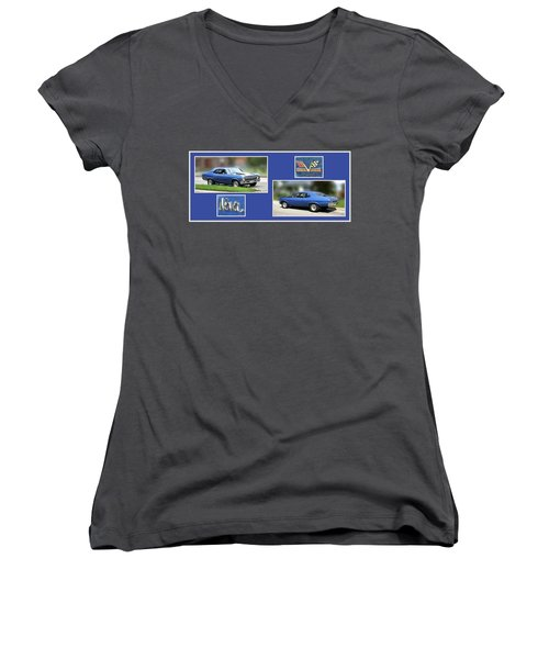 Chevy Nova Horizontal Women's V-Neck (Athletic Fit)