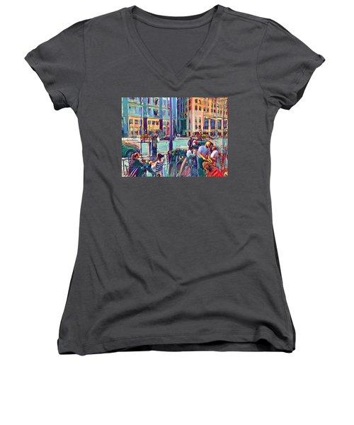 Chicago Cafe Women's V-Neck T-Shirt