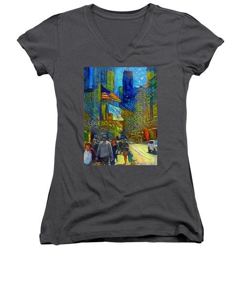 Chicago Colors 2 Women's V-Neck T-Shirt