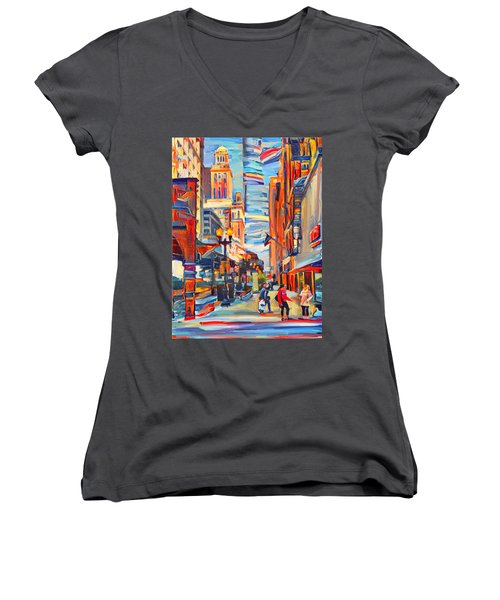 Chicago Colors 4 Women's V-Neck T-Shirt