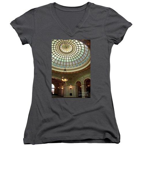 Chicago Cultural Center Dome Women's V-Neck