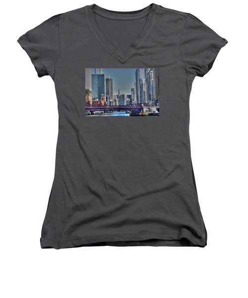 Chicago River East Women's V-Neck (Athletic Fit)