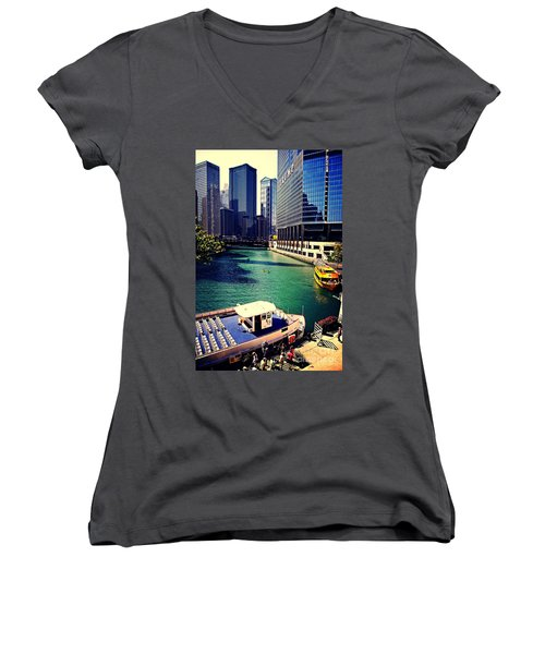 City Of Chicago - River Tour Women's V-Neck