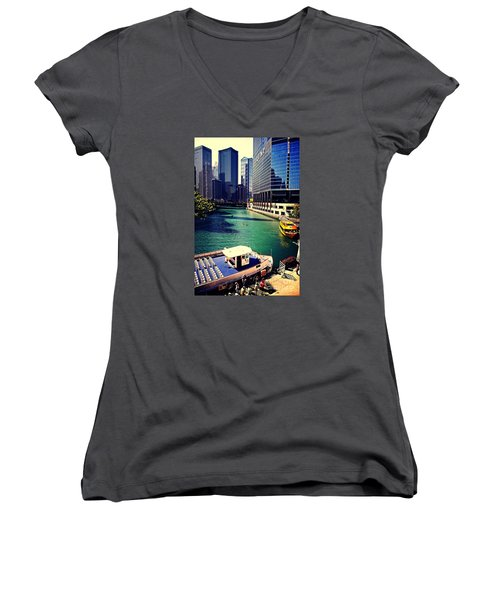 City Of Chicago - River Tour Women's V-Neck (Athletic Fit)