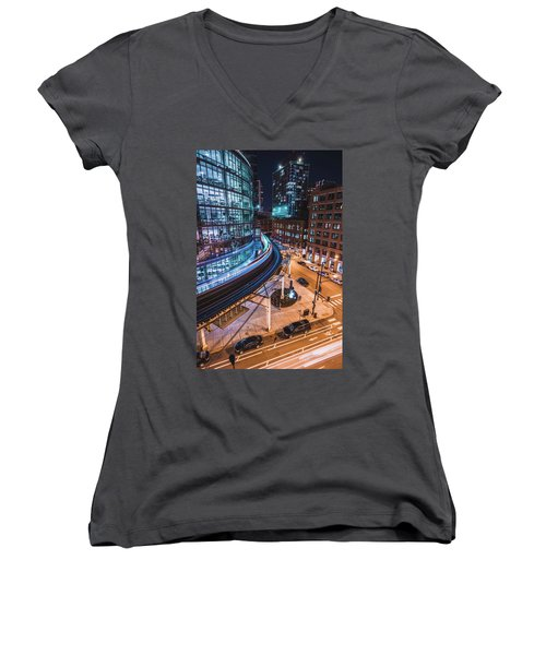 Chicago S Train Women's V-Neck