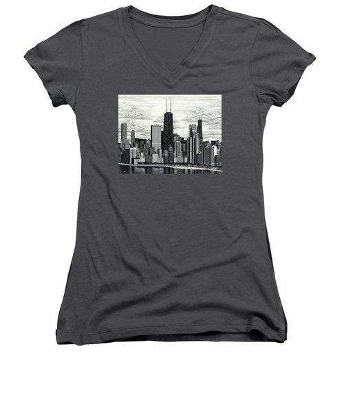 I Love Chicago Volume 1 Women's V-Neck T-Shirt