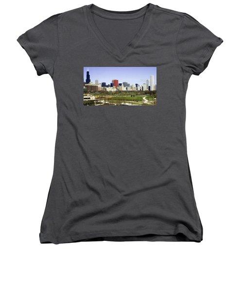 Chicago- The Windy City Women's V-Neck