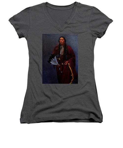 Chief Quanah Parker Women's V-Neck (Athletic Fit)