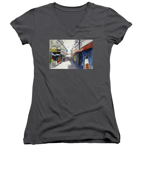 Chinatown, Bangkok Women's V-Neck (Athletic Fit)