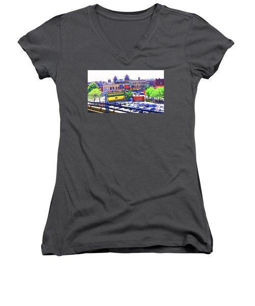 Chinatown Chicago 1 Women's V-Neck T-Shirt