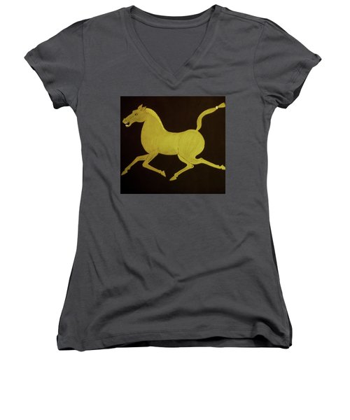 Chinese Horse Women's V-Neck (Athletic Fit)