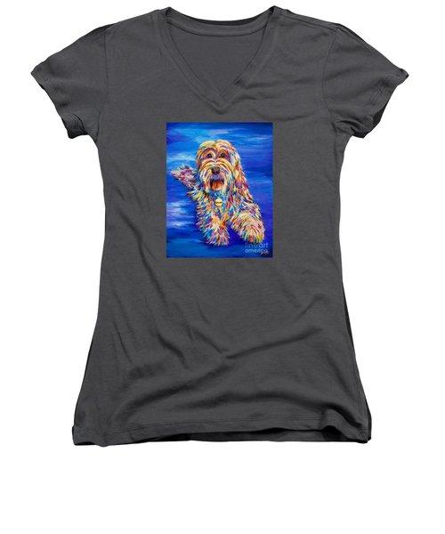 Chloe Women's V-Neck T-Shirt (Junior Cut) by AnnaJo Vahle