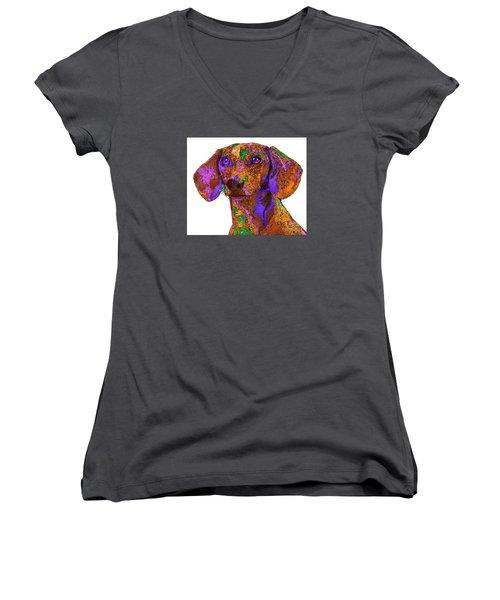 Chloe. Pet Series Women's V-Neck