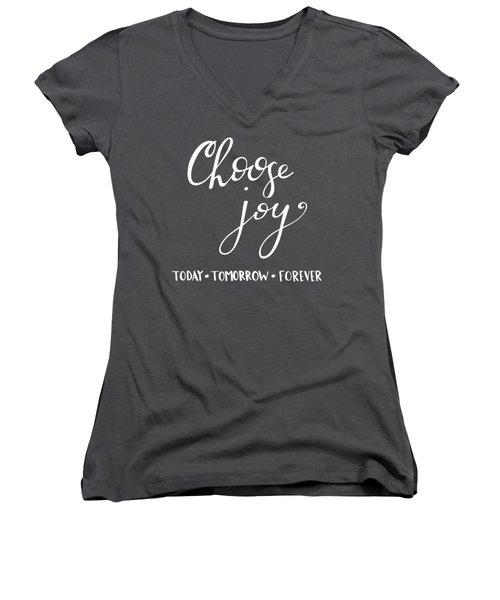 Choose Joy Women's V-Neck
