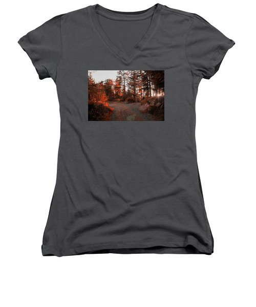 Choose The Road Less Travelled Women's V-Neck (Athletic Fit)