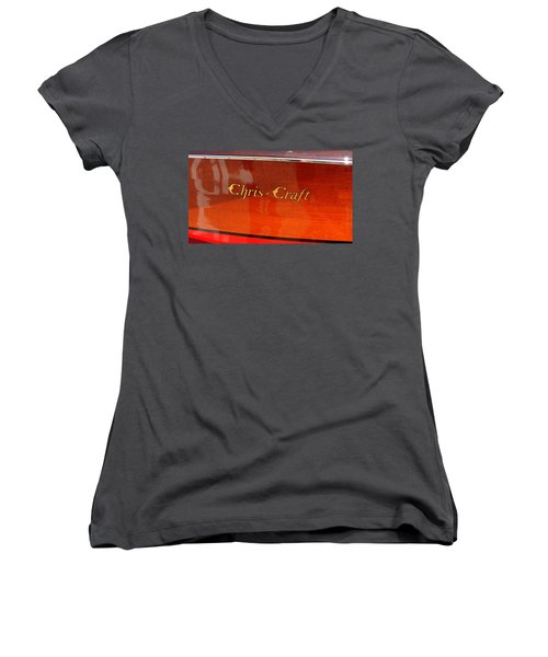 Chris Craft Logo Women's V-Neck
