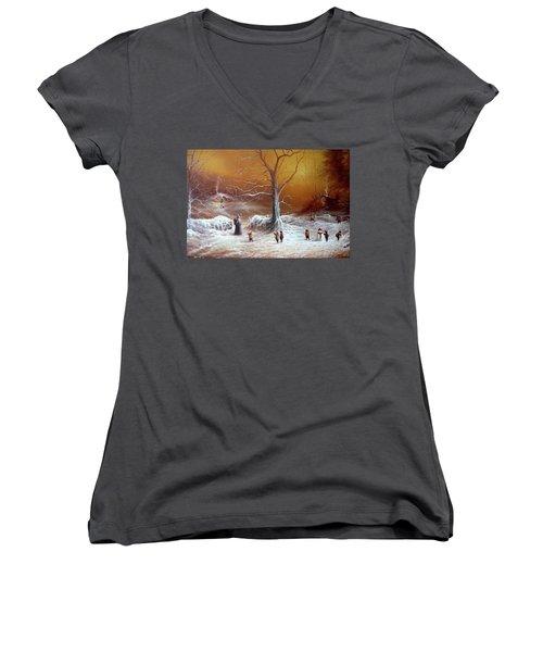 A Shire Christmas  Women's V-Neck T-Shirt